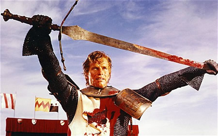 Charlton Heston from the movie El Cid