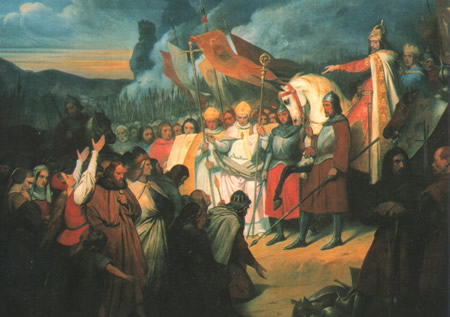 Wittekind surrenders to Charlemagne