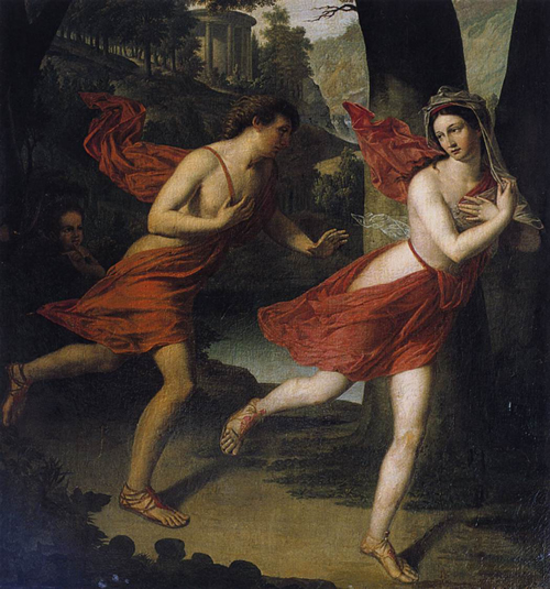 Daphne Fleeing from Apollo