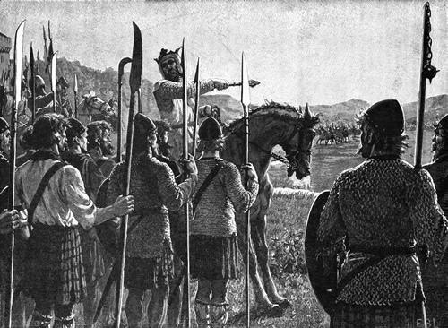 Robert Bruce rallies the troops