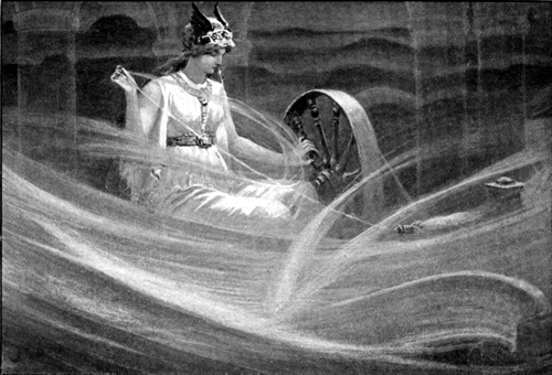 Frigga spinning the clouds.