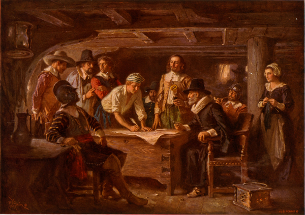 Mayflower Compact Signing